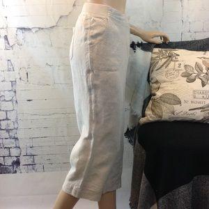 J. Jill Linen Wide Leg Cropped Pants